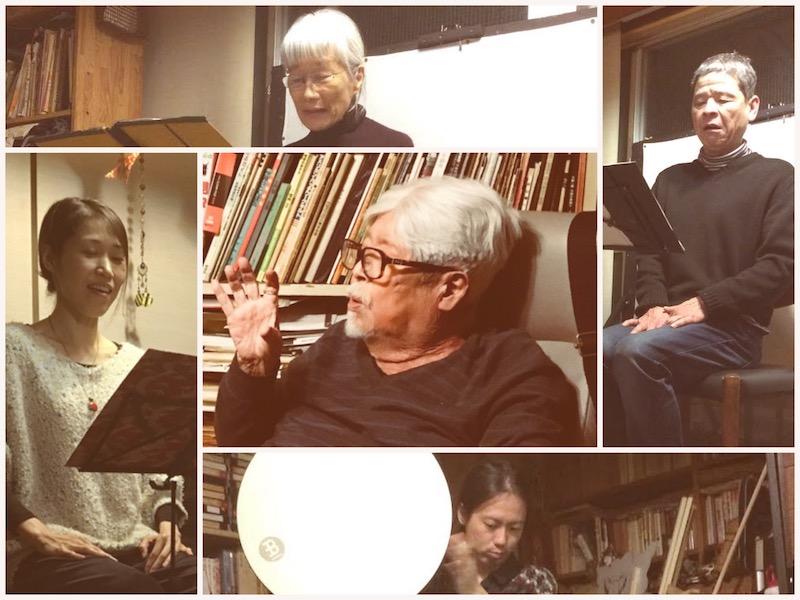 日本間で聴く一葉稽古風景 遠藤啄郎、玉寄長政、吉岡紗矢、岡屋幸子、松本利洋